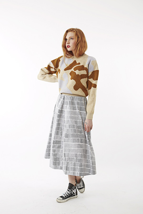 Nanushka Last Marbler Jacquard Crop Sweater