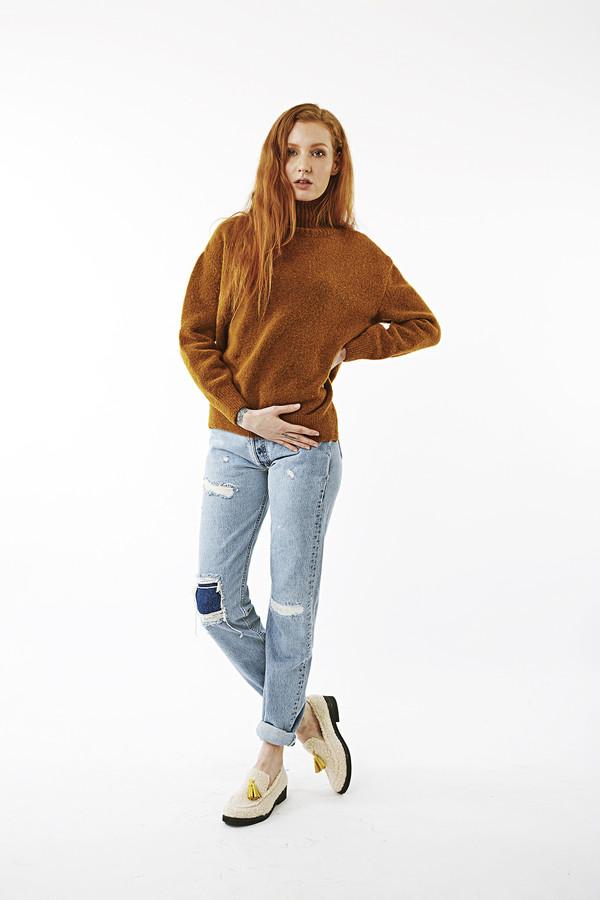 Nanushka Motta High Neck Buclé Sweater