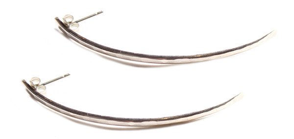 Sarah Dunn Sterling Silver Curved Earrings