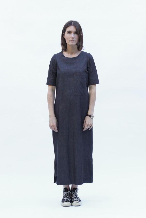 Sunja Link Long Patch Pocket Dress