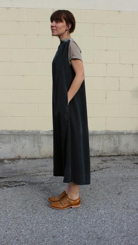 Sunja Link contrast yoke dress