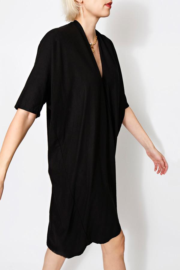 Miranda Bennett Flash Sale Black Muse Dress, Oversized, Silk