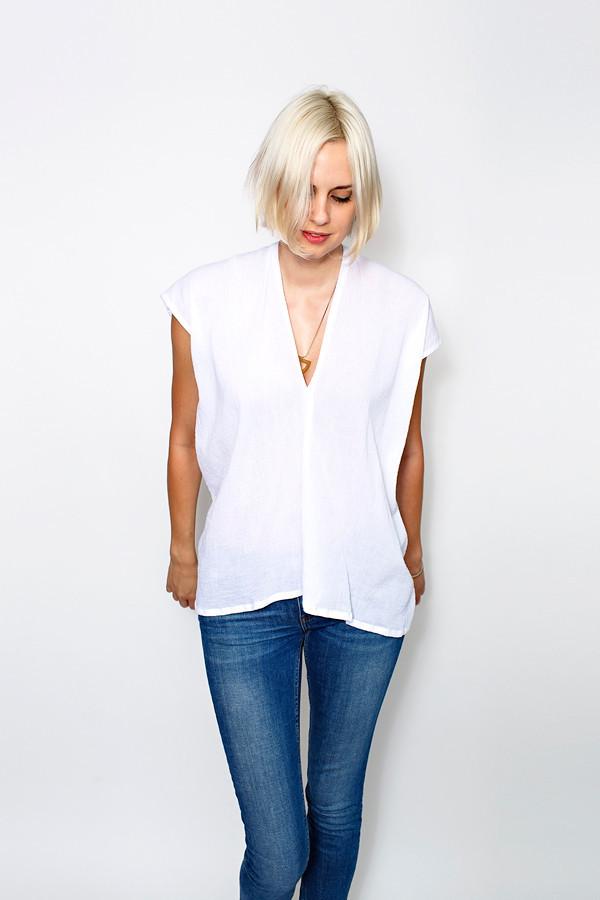 Miranda Bennett White Everyday Top - Cotton