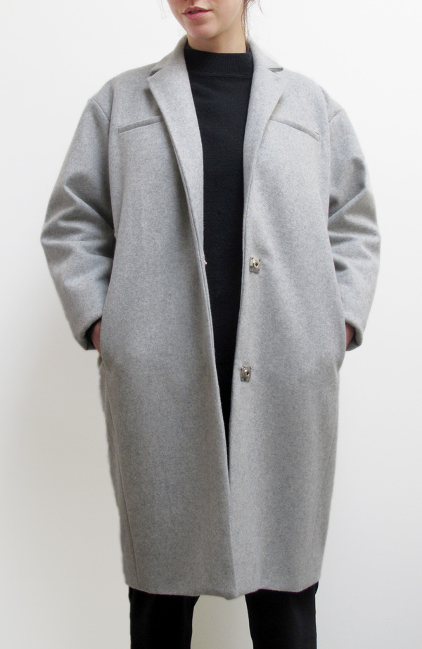 Waltz Notch Collar Coat in Heather Grey