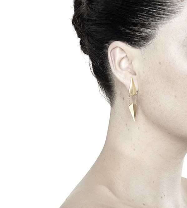 Maria Black Gold d'Ante Earring