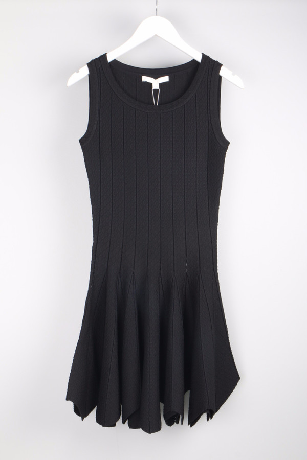 Jonathan Simkhai Pointelle Flare Dress Black