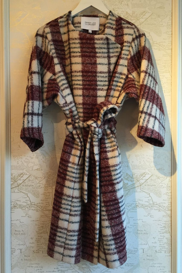 Derek Lam 10 Crosby 'Medea' plaid wrap coat