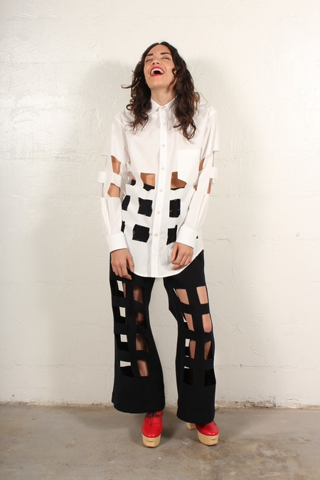 nancystellasoto Cutout Shirt