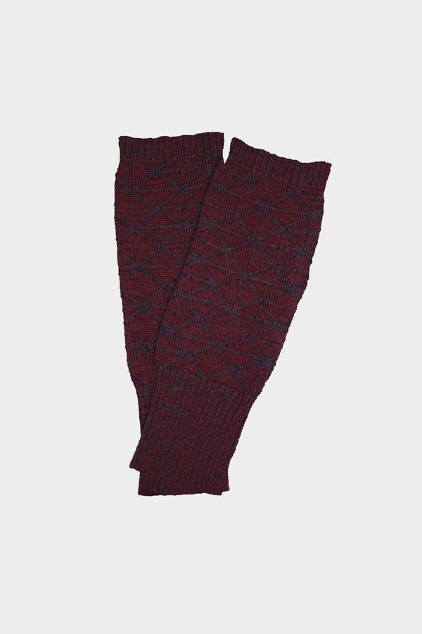 Micaela Greg Burgundy Fragment Fingerless Gloves