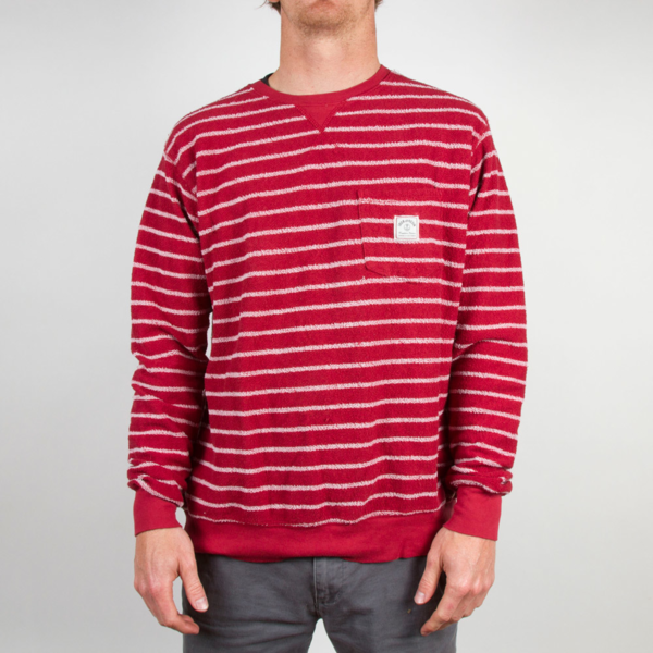 Iron And Resin Loop Out Crew Red