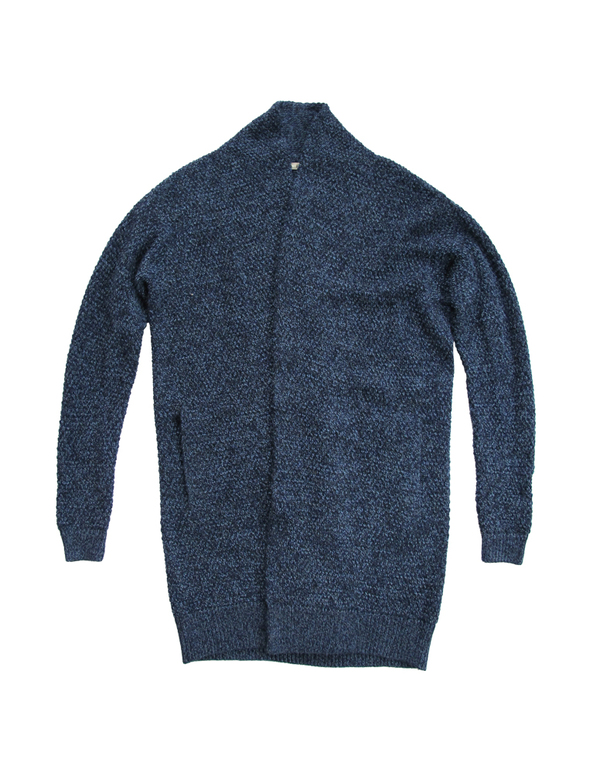ALI GOLDEN SWEATER COAT - BLUE