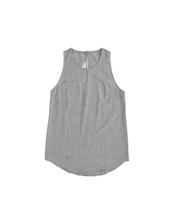 ALI GOLDEN SCOOP NECK TANK - GREY