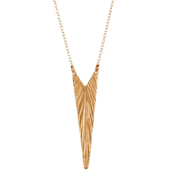 TIFFANY KUNZ - COLLIER PLUME V BRONZE
