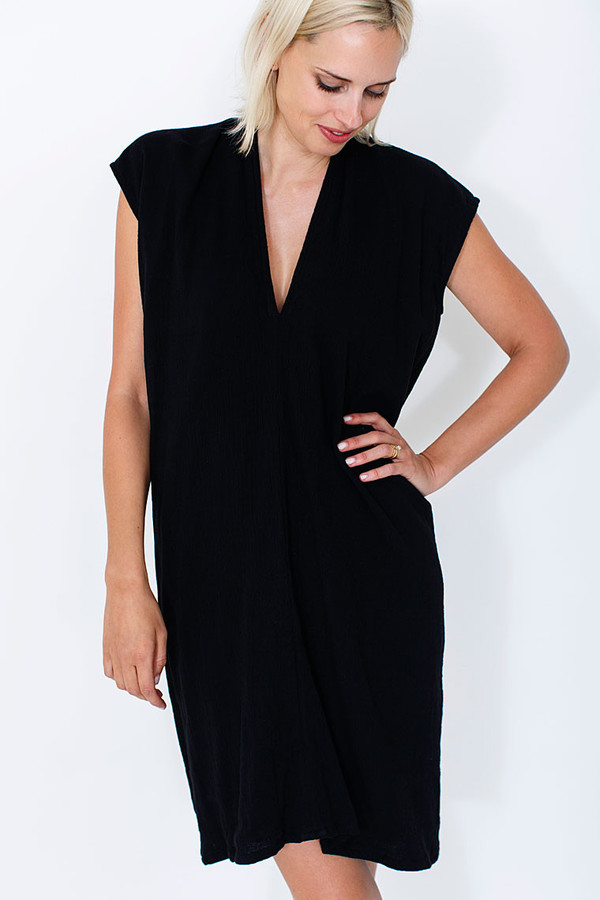 Miranda Bennett Black Everyday Dress, Silk