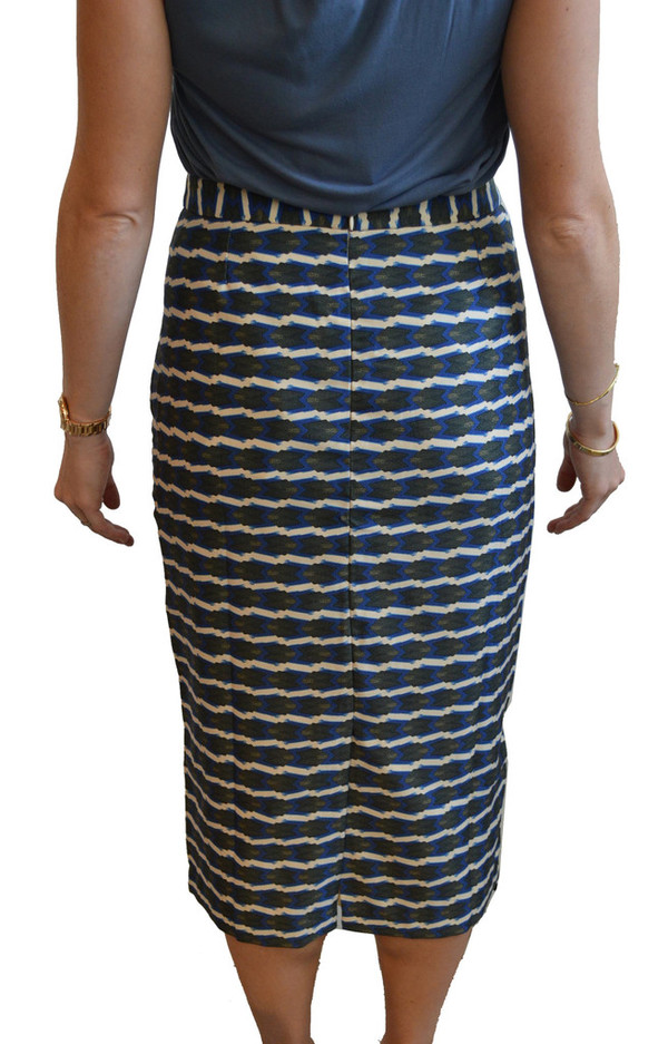 Lauren Moffatt Blue Arrow Skirt