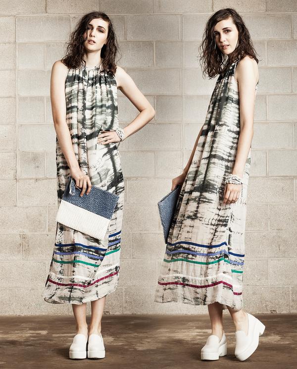 Laura Siegel Half and Half Leather Clutch