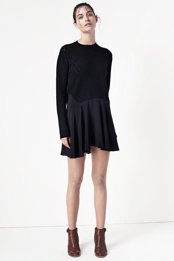 Thakoon Addition Asymmetrical Pointelle Dress
