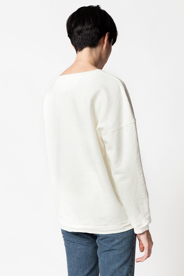 Older Brother Anti Fit Crew Sweater - natural