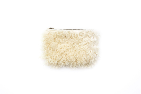 Primecut CREAM CURLY SHEEP MEDIUM POUCH