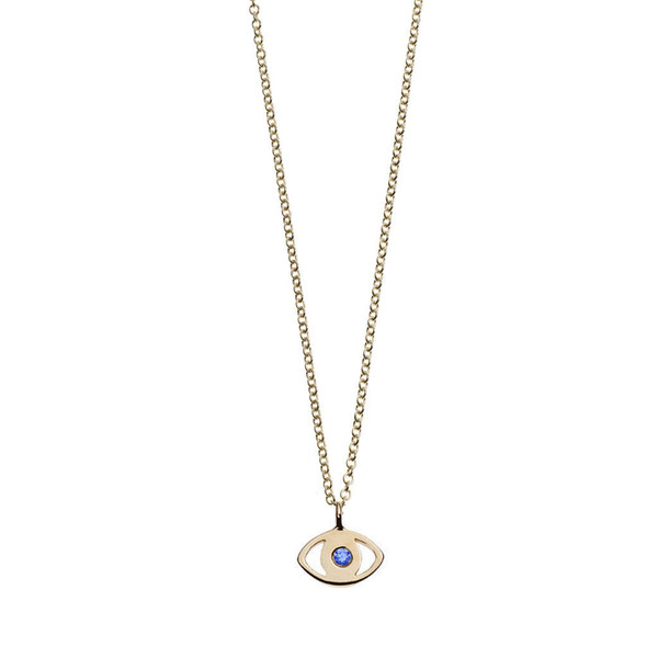 Minor Obsessions EVIL EYE WITH SAPPHIRE NECKLACE