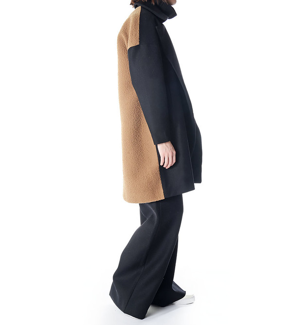 Charlie May Wool/Felt Drop Shoulder Coat