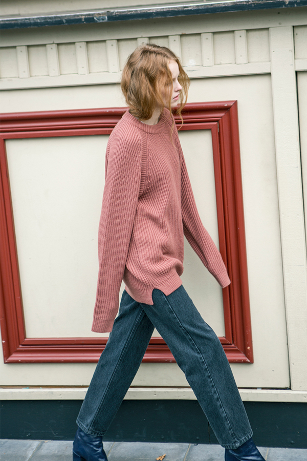 ANDERSSON BELL Raglan Oversized Sweater- Rusty Pink