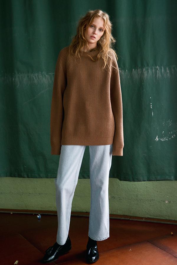 ANDERSSON BELL Raglan Oversized Sweater- Dark Grey