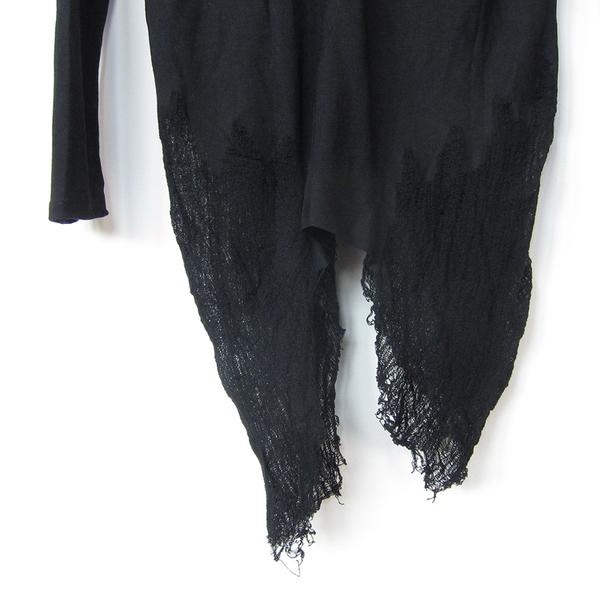 Benjamin Jay Y Shred top - black