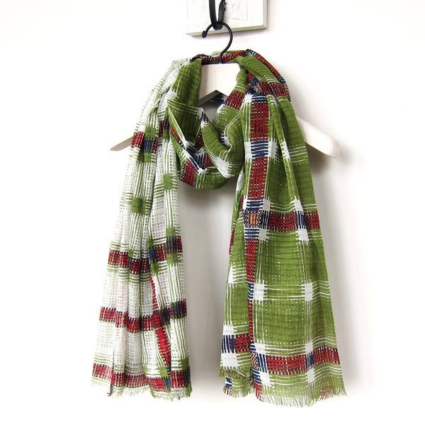 Épice plaid scarf - anis