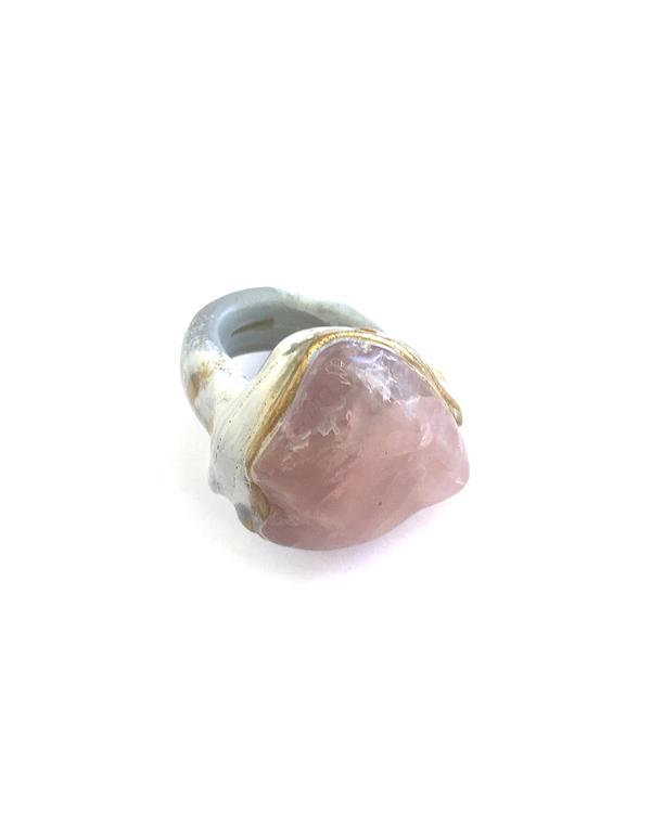 Adina Mills The Love Rose Quartz Ring