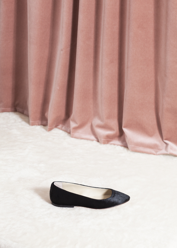 Anniel Pointed Ballerina - black pony