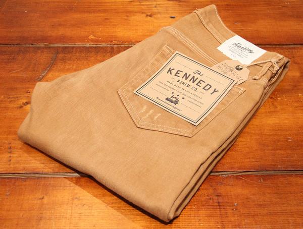 Men's Kennedy Denim - The 13oz Japanese Khaki Distressed Denim