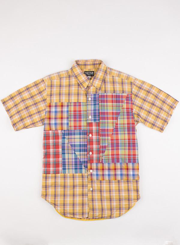Men's Rough & Tumble Block Shirt Gold/Purple Plaid
