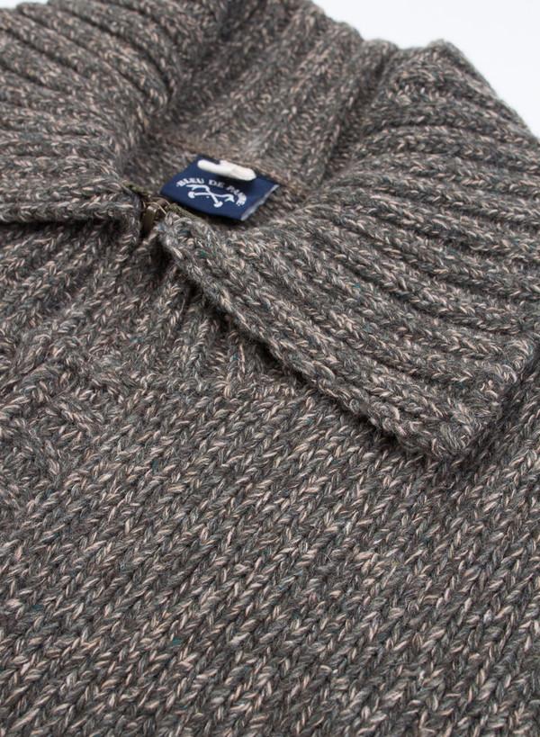 Men's Bleu De Paname Cowichan Knit Gage 3 Kaky Militare