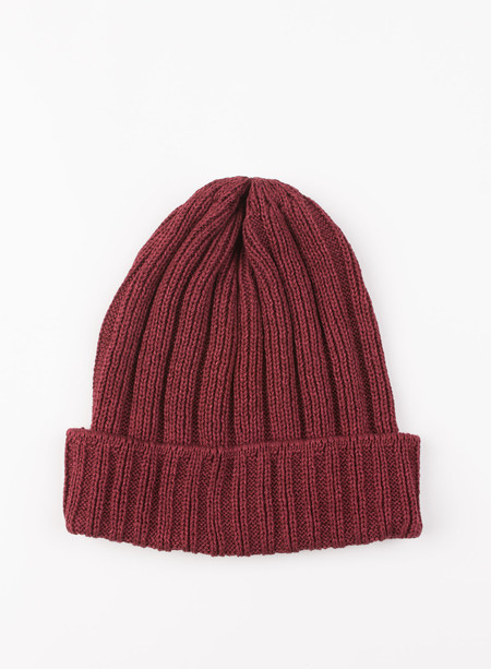 The Hill-Side Knit Cap Brick Red Pima Cotton