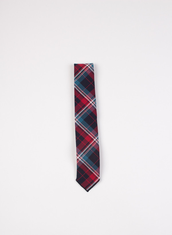 Engineered Garments Neck Tie Navy/Red/Blue Heavy Twill Plaid