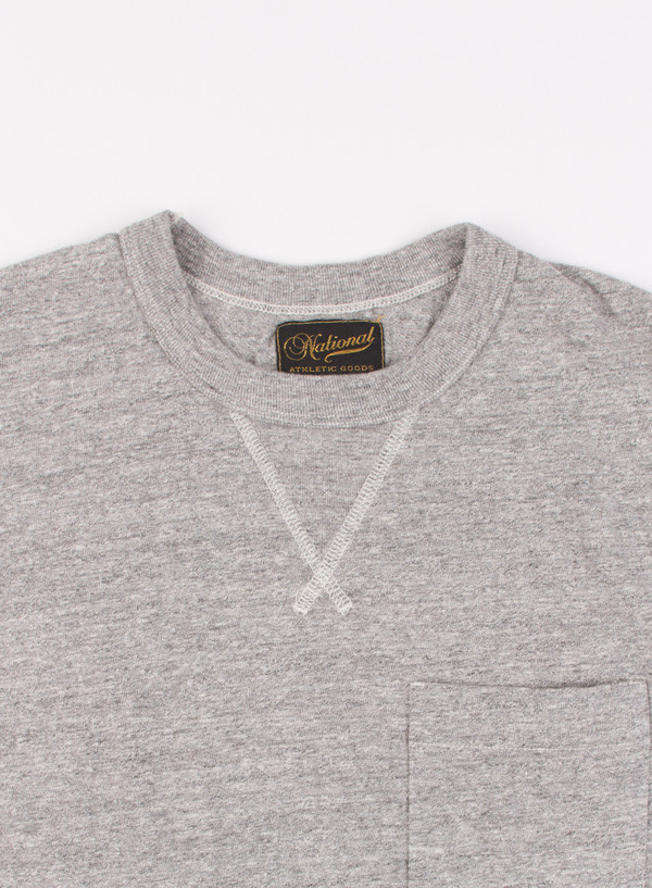 Men's National Athletic Goods V Pocket Tee Mid Grey