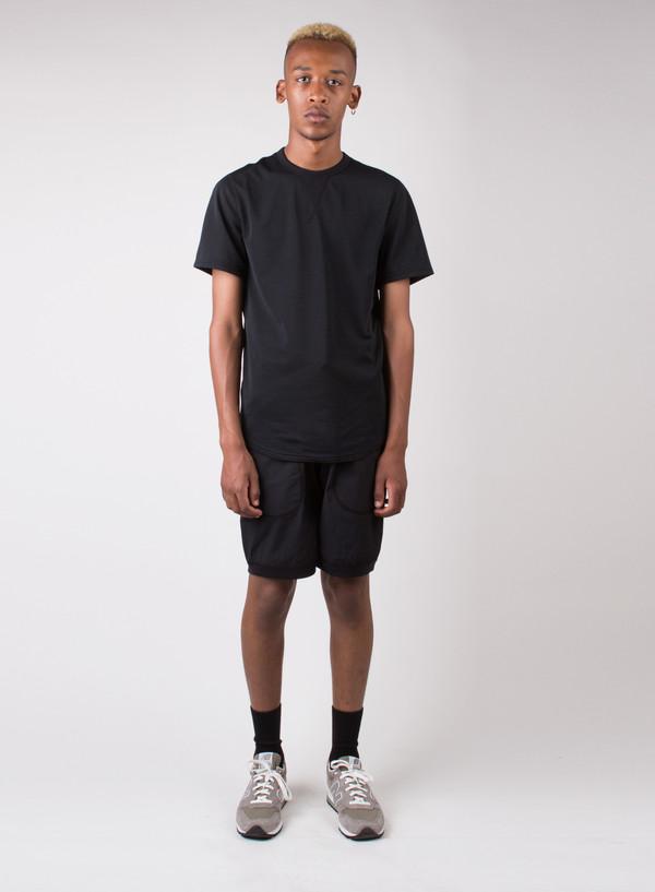 Woven Stretch Nylon Short Black
