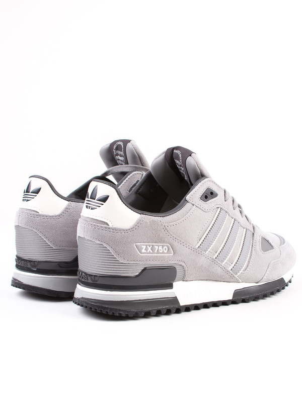 Men's Adidas ZX 750 Grey Suede