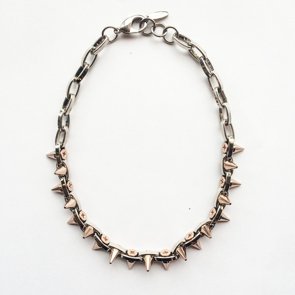 Joomi Lim Double Row Rose Gold Spike Choker