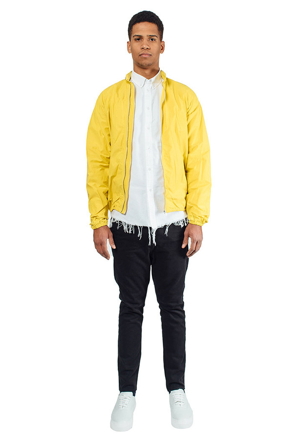 Men's YMC Double Zip Jacket Yellow