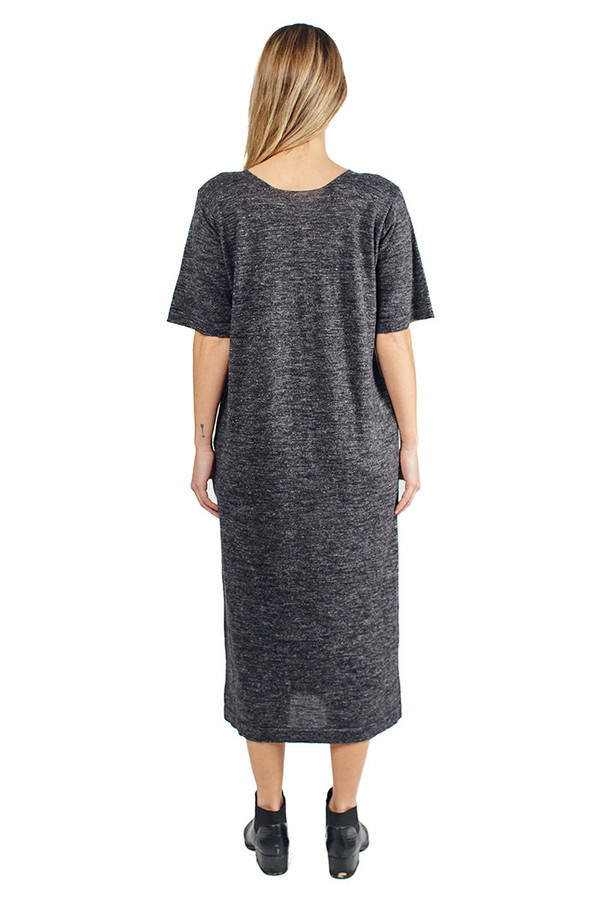 Lauren Manoogian Tall T Dress Charcoal Flax