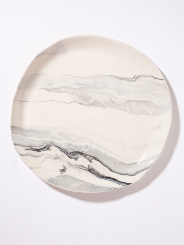 The Pursuits of Happiness Large Marbled Plate