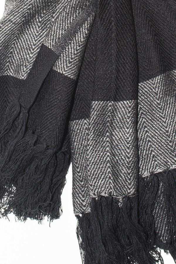 Men's Chamula Acrylic Stripe Scarf - Navy/Grey