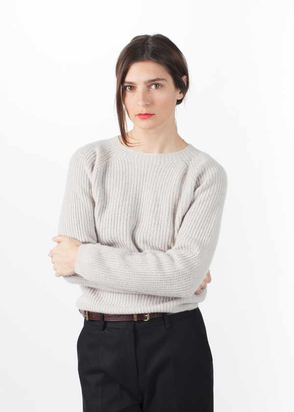Margaret Howell Cashmere Ribbed Crew Neck Pullover