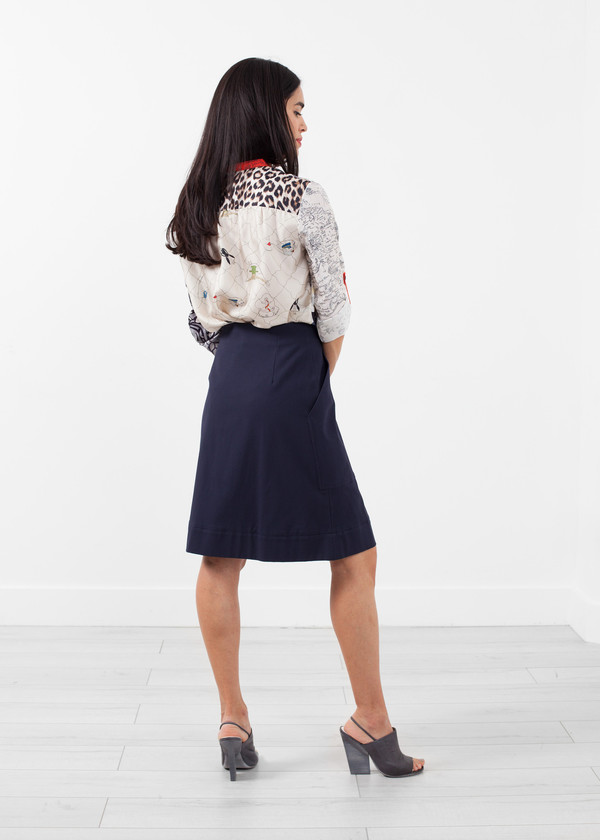 Hache Deep Pocket Skirt