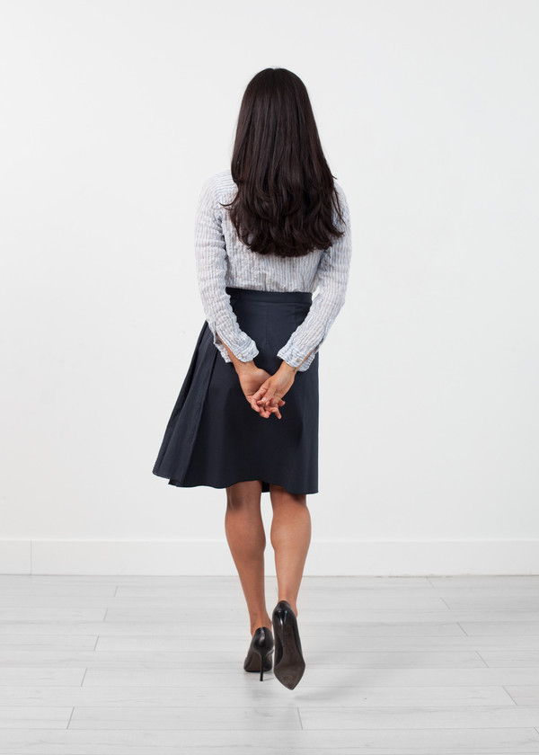 Hache Half Wrap Skirt