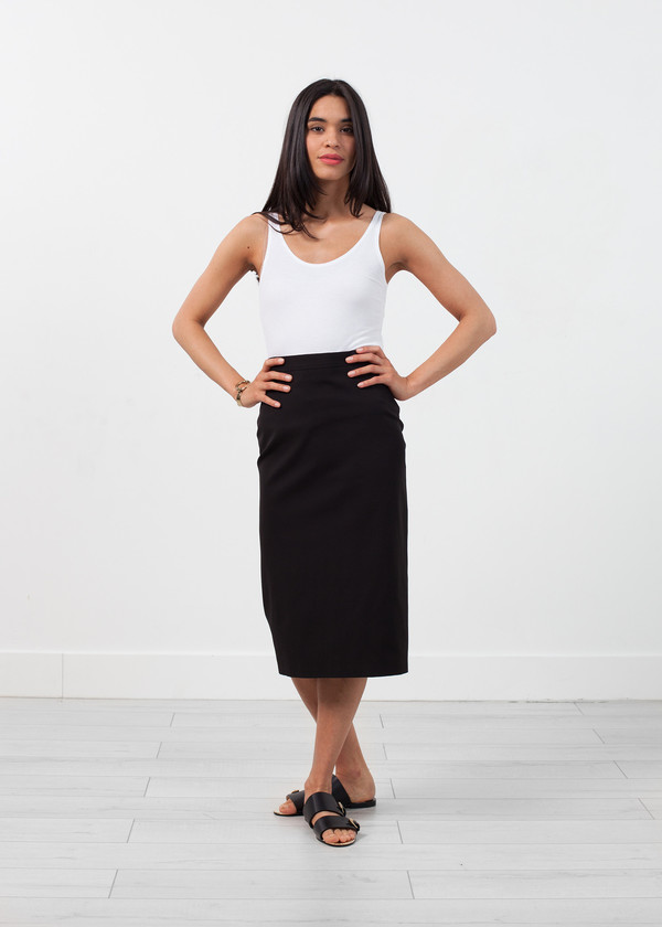 Ter et Bantine Long Pencil Skirt in Black