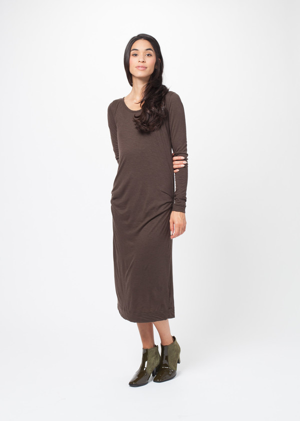 Private 02 04 Long Sleeve Pinched Dress