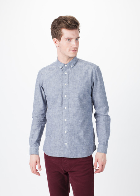 Men's You Must Create Marl Button Down Shirt